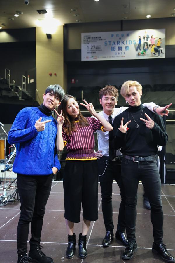 香港男团组合BOP天堂鸟为慈善演出